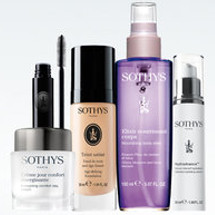 Packshot of Sothys creme, teint, elixir and hydra