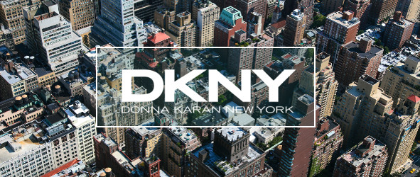 New York overview with DKNY logo